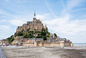 Wallpapers France Building Fortification Hill Mont Saint Michel Cities
