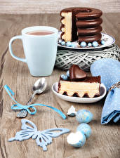 Images Hot chocolate drink Torte Chocolate Butterflies Cup Pieces Spoon Heart Eggs