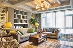 Image Interior Design Lounge sitting room Sofa Chandelier Lamp