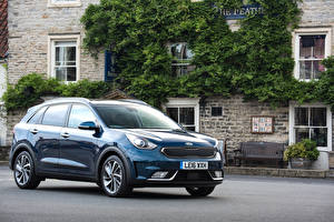 Bilder KIA Blau Metallisch 2016 Niro First Edition Autos