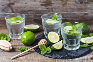 Fotos Limette Limonade Trinkglas