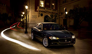 Wallpaper Maserati Pininfarina Black 2008-12 Quattroporte Worldwide auto