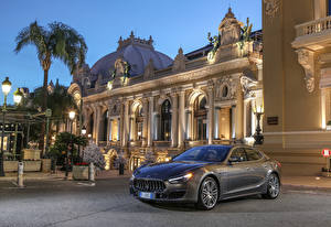Hintergrundbilder Maserati Grau Metallisch 2017-18 Ghibli S GranLusso Autos