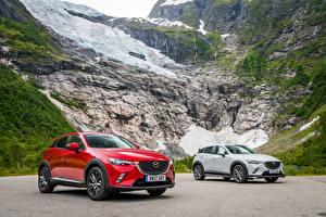 Hintergrundbilder Mazda 2 Metallisch 2015-17 CX-3 Autos