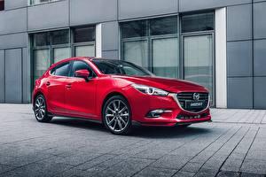 Fotos Mazda Rot Metallisch 2016-17 Mazda3 Hatchback Accessorized Worldwide Autos