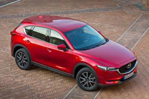 Hintergrundbilder Mazda Rot Metallisch 2017 CX-5 Autos