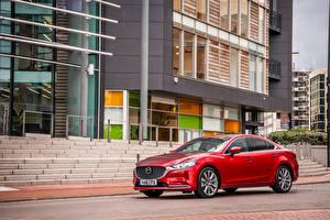 Hintergrundbilder Mazda Rot Metallisch 2018 Mazda 6 Autos
