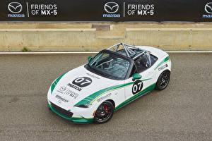 Wallpaper Mazda Tuning White Convertible 2015-17 MX-5 Cup auto