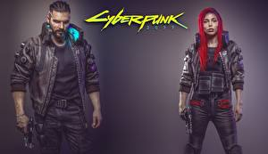 Photo Man Cyberpunk 2077 Redhead girl Fan ART Girls
