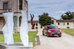 Tapety na pulpit Renault Czerwony Metaliczna 2016 Clio Samochody