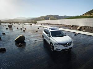 Wallpaper Renault White 2016 Koleos automobile