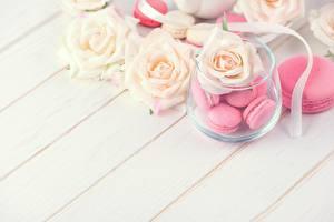 Bilder Rosen Macaron Blumen Lebensmittel
