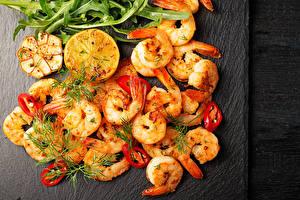Wallpaper Seafoods Shrimp Dill Bell pepper Food