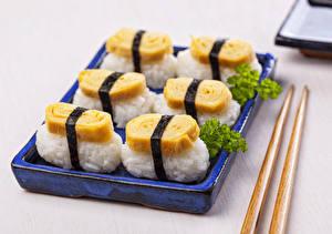 Fotos Meeresfrüchte Sushi Lebensmittel