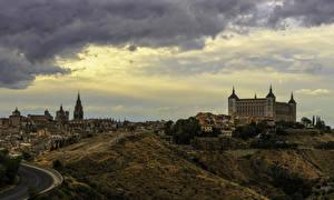 Bilder Spanien Toledo Haus Abend Hügel