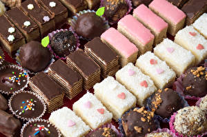 Wallpaper Sweets Little cakes Candy Chocolate Food