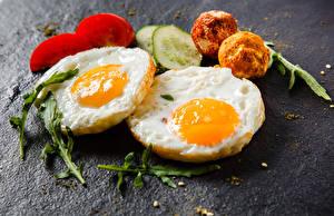 Bilder Tomate Gurke Spiegelei das Essen
