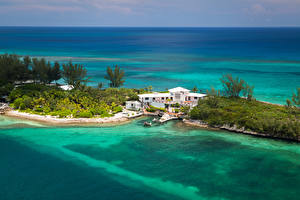 Wallpapers Tropics Spa town Coast Houses Marinas Nassau Bahamas Nature