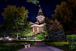 Hintergrundbilder Vereinigte Staaten Gebäude Museum Nacht Bäume Clarinda  Iowa Städte