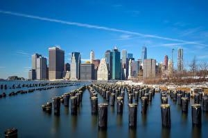 Hintergrundbilder Vereinigte Staaten Gebäude Flusse New York City