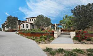 Fotos Vereinigte Staaten Haus San Diego Herrenhaus Design Stiege Bäume