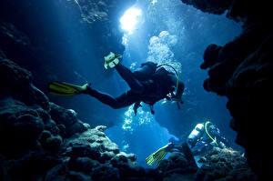 Image Underwater diving Water Caves Uniform athletic