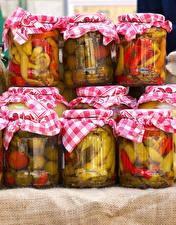 Pictures Vegetables Jar Food