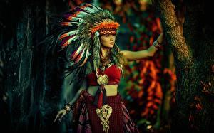 Bilder Warbonnet Indianer Mädchens