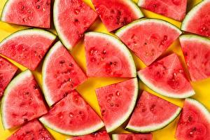 Hintergrundbilder Wassermelonen Textur Stück Lebensmittel