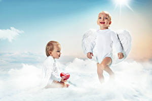 Wallpapers Angels Baby 2 Smile Wings Heart child