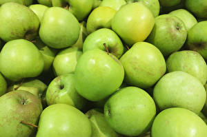 Images Apples Closeup Green Food