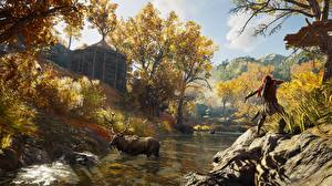 Picture Assassin's Creed Moose Archers Assassin's Creed Odyssey Hunting vdeo game 3D_Graphics Nature