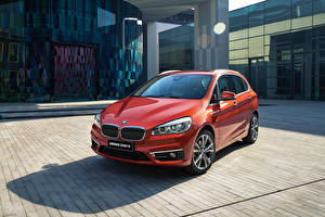 Wallpapers BMW Red Metallic 2016 220i Active Tourer Luxury Line automobile