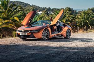 Pictures BMW Orange Roadster 2018 i8 automobile