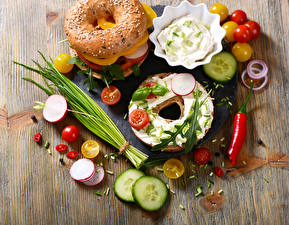 Wallpapers Buns Sandwich Vegetables Tomatoes