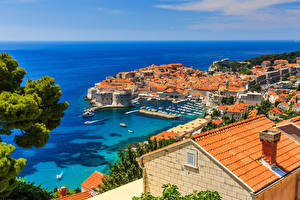 Picture Croatia Coast Building Berth Dubrovnik Roof