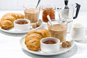 Wallpapers Croissant Coffee Highball glass Breakfast
