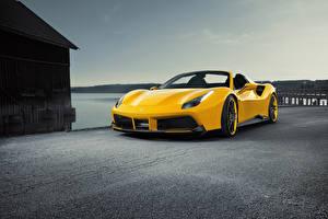 Fonds d'écran Ferrari Jaune Roadster Spider Rosso Novitec 488