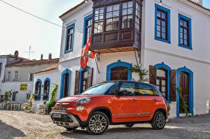 Wallpaper Fiat Orange Metallic 2017 500L Cross Cars