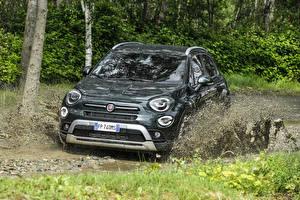 Picture Fiat Green Metallic Mud 2018 500X Cross Cars