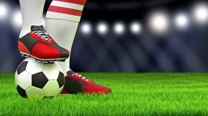 Hintergrundbilder Fußball Großansicht Rasen Ball Turnschuh Sport