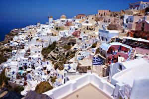 Fotos Griechenland Gebäude Von oben Santorini Städte