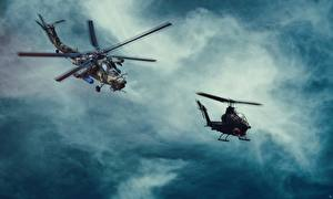 Pictures Helicopters Russian US MI-28, Havoc Bell AH-1 Cobra