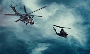 Bilder Hubschrauber Russische US MI-28, Havoc Bell AH-1 Cobra Luftfahrt