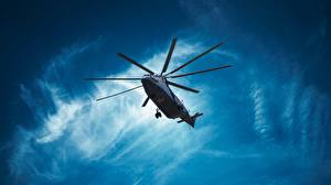 Images Helicopters Russian Bottom view Mi-26