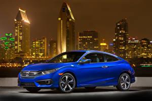 Bilder Honda Blau 2016-18 Civic Coupe Autos