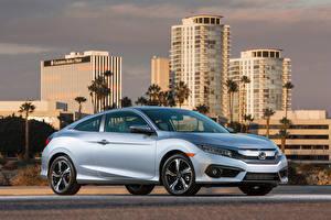 Fotos Honda Silber Farbe 2016-18 Civic Coupe