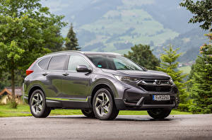 Wallpaper Honda Crossover Gray Metallic 2018 CR-V