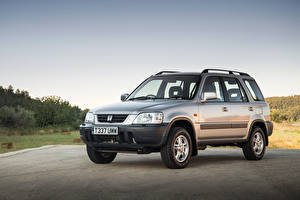 Image Honda Retro Silver color Crossover 1996-99 CR-V Cars