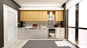 Wallpapers Interior Design Kitchen 3D Graphics